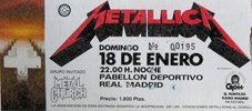 Metallica 1987-01-18 Madrid
